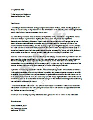 Character reference letter for court and templates sample character reference for court by a family member expocarfo Image collections