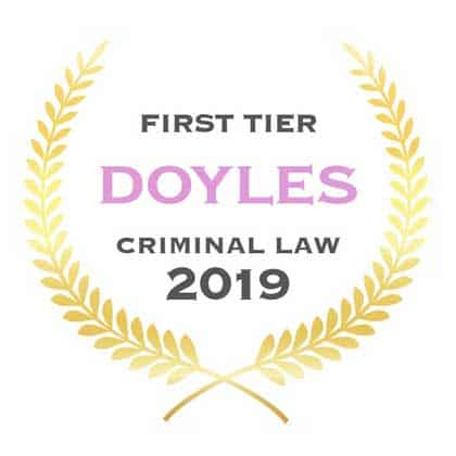 First Tier Law Firm Crime 2019 Logo